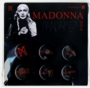 MADAME X TOUR - OFFICIAL PIN BUTTON  BADGE SET